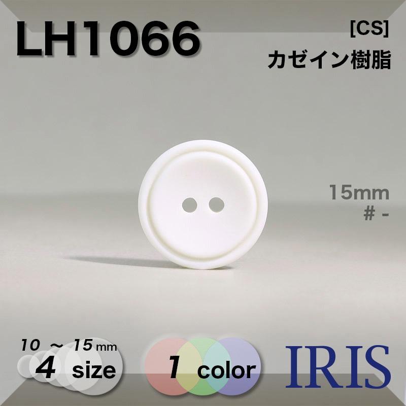 LH1066 カゼイン樹脂 表穴2つ穴ボタン  4サイズ1色展開