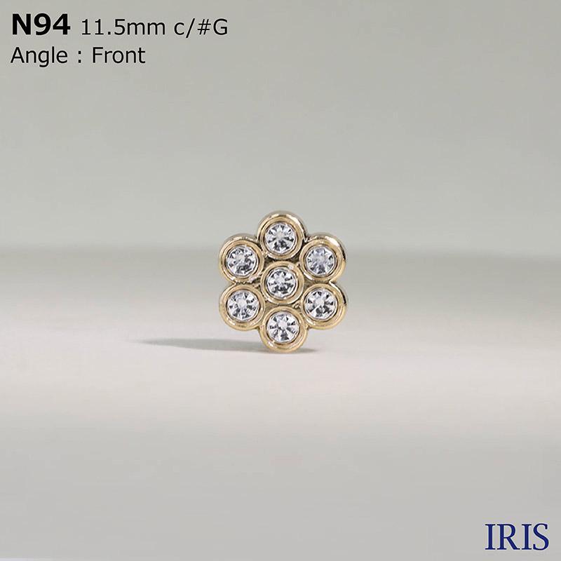N94 ガラス/ABS樹脂 角カン足ボタン  1サイズ2色展開