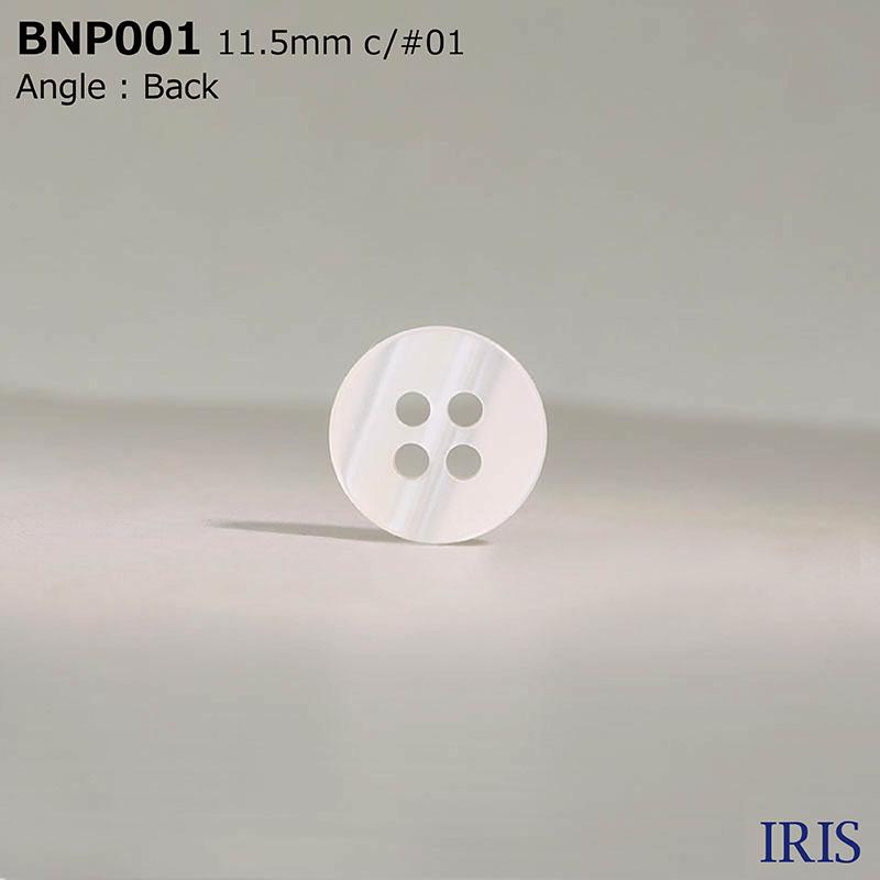 BNP001 ポリエステル樹脂 表穴4つ穴ボタン  3サイズ3色展開
