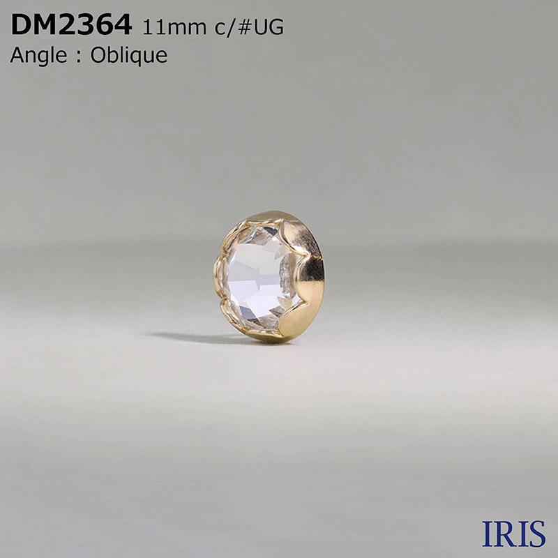 DM2364 ガラス/ダイカスト 丸カン足ボタン  1サイズ2色展開
