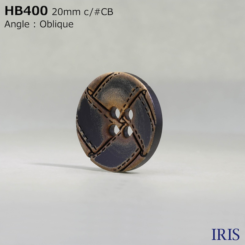HB400 本水牛 表穴4つ穴ボタン  2サイズ1色展開