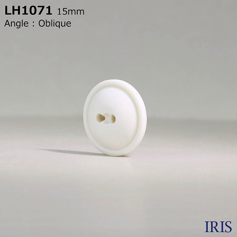 LH1071 カゼイン樹脂 表穴2つ穴ボタン  4サイズ1色展開