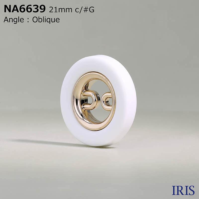 NA6639 ABS樹脂/ナイロン樹脂 表穴2つ穴ボタン  4サイズ3色展開