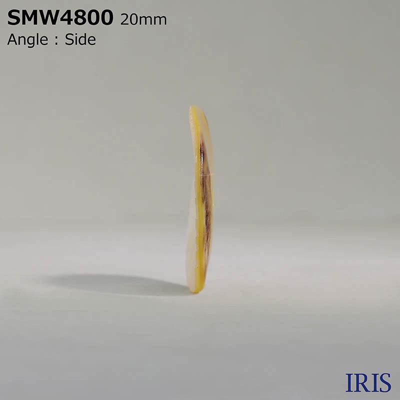 SMW4800 貝全般 表穴2つ穴ボタン  4サイズ1色展開
