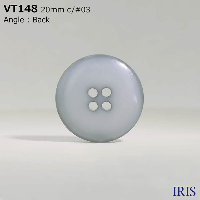 VT148 ポリエステル樹脂 表穴4つ穴ボタン  5サイズ7色展開