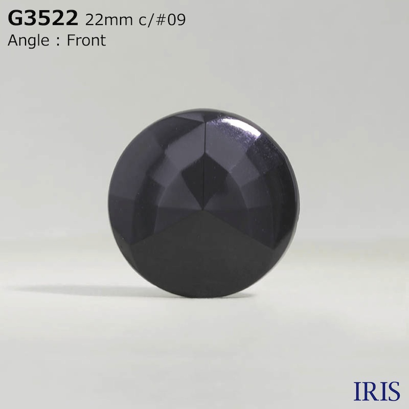 G3522 アクリル樹脂 トンネル足ボタン  4サイズ1色展開