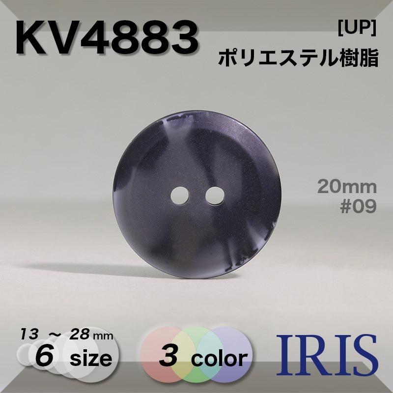 KV4883 ポリエステル樹脂 表穴2つ穴ボタン  6サイズ3色展開