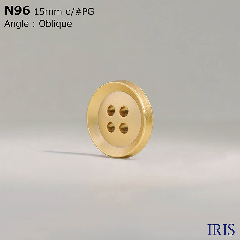 N96 ABS樹脂 表穴4つ穴ボタン  3サイズ5色展開
