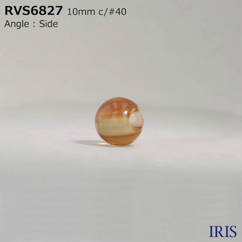RVS6827 ポリエステル樹脂 トンネル足ボタン  2サイズ3色展開