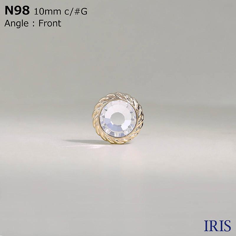 N98 ガラス/ABS樹脂 丸カン足ボタン  1サイズ2色展開