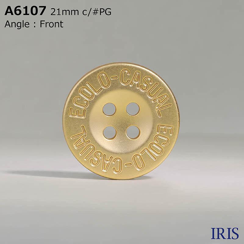 A6107 ABS樹脂 表穴4つ穴ボタン  7サイズ5色展開