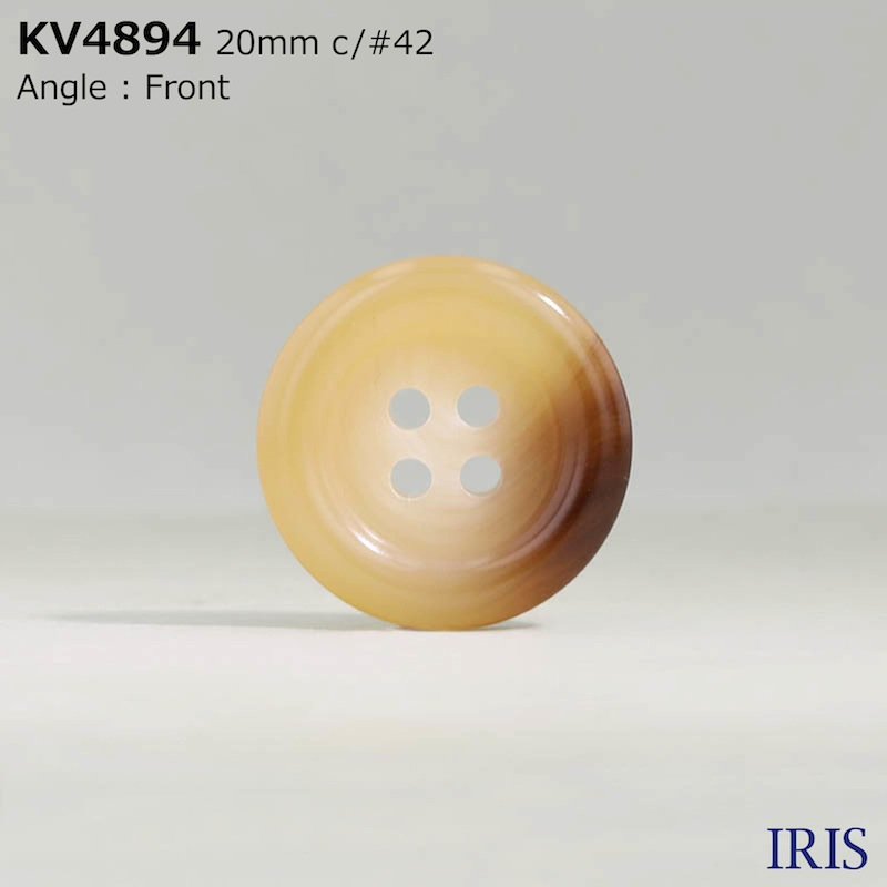 KV4894 ポリエステル樹脂 表穴4つ穴ボタン  6サイズ7色展開