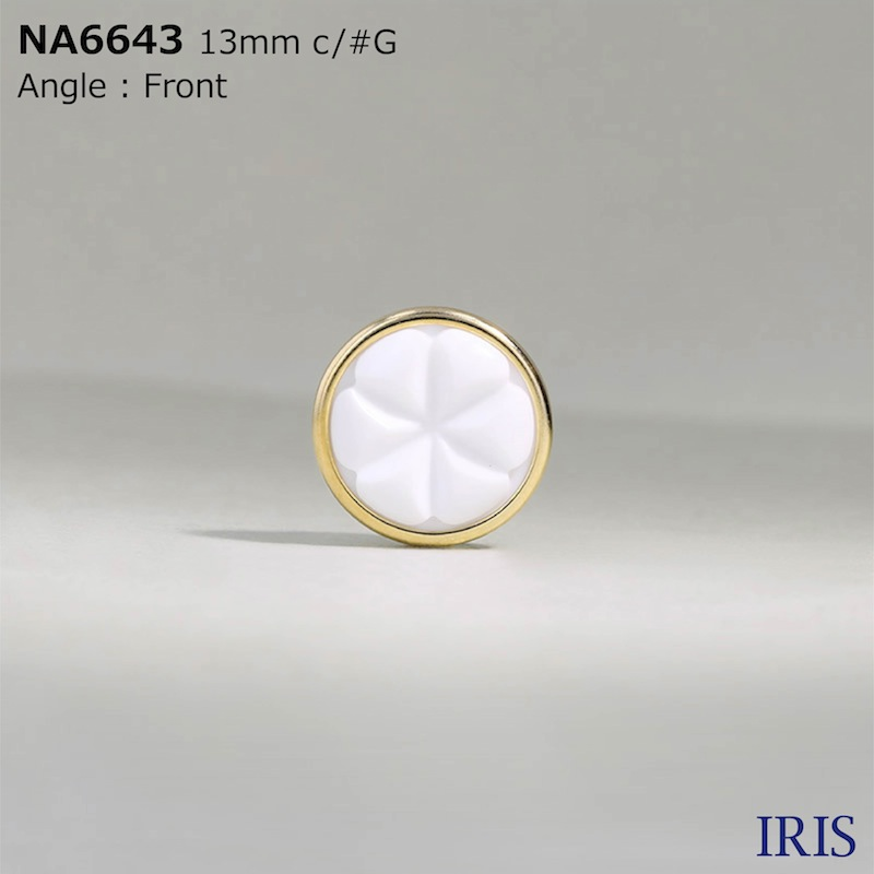 NA6643 ナイロン樹脂/真鍮 トンネル足ボタン  2サイズ3色展開