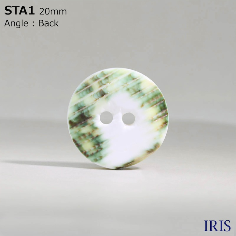 STA1 貝全般 表穴2つ穴ボタン  4サイズ1色展開
