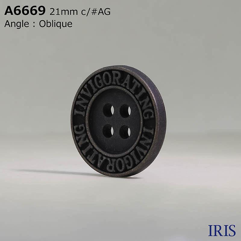 A6669 ABS樹脂 表穴4つ穴ボタン  5サイズ2色展開