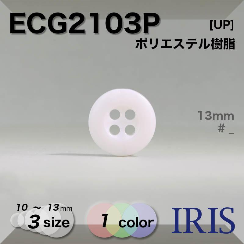 ECG2103P ポリエステル樹脂 表穴4つ穴ボタン  3サイズ1色展開