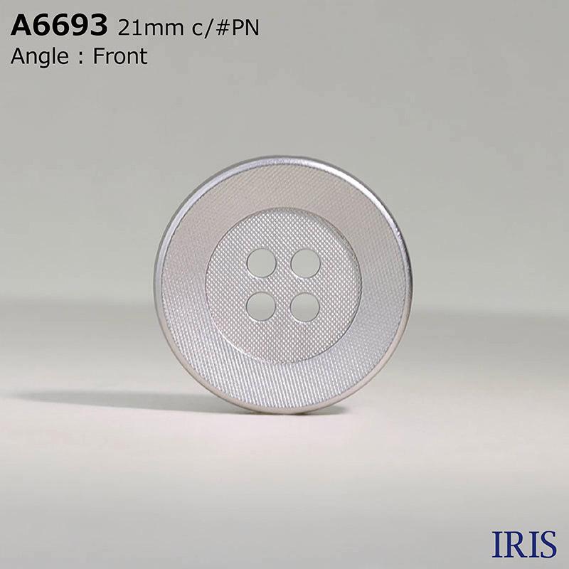 A6693 ABS樹脂 表穴4つ穴ボタン  7サイズ3色展開