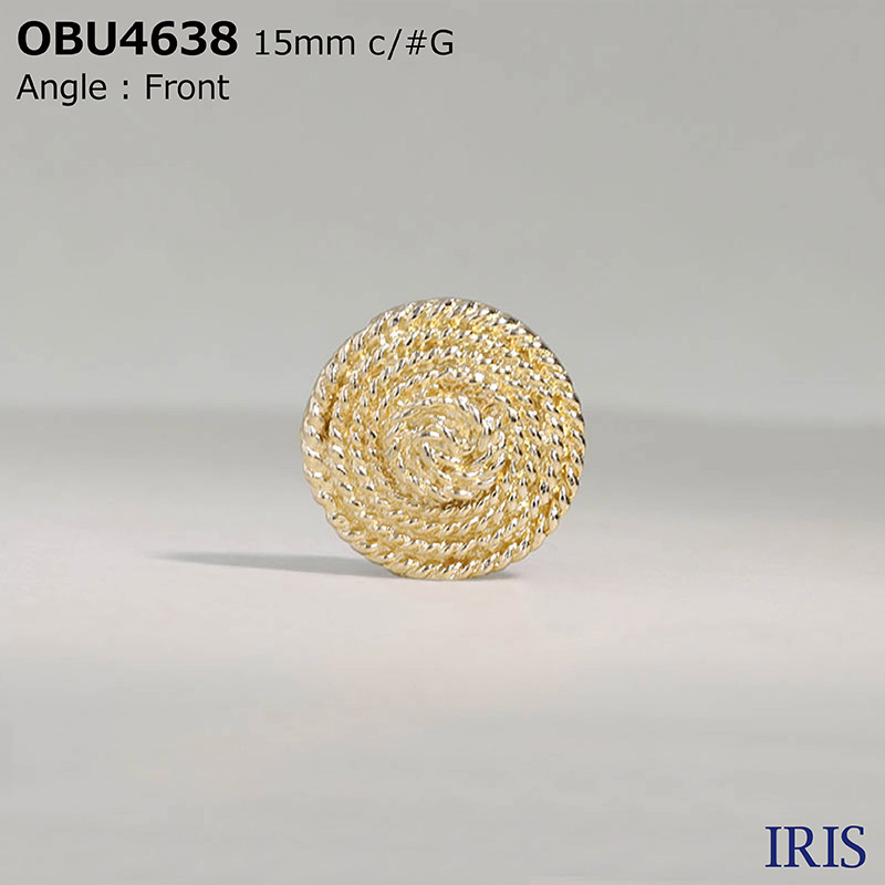 OBU4638 ハイメタル 半丸カン足ボタン  5サイズ2色展開