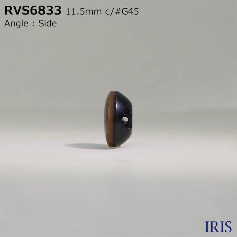 RVS6833 エポキシ樹脂/真鍮/ポリエステル樹脂 トンネル足ボタン  2サイズ3色展開