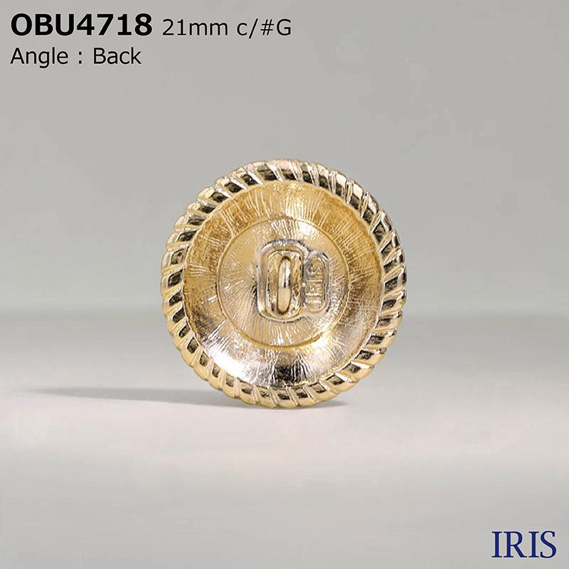 OBU4718 ハイメタル 半丸カン足ボタン  6サイズ2色展開