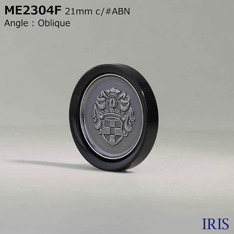 ME2304F ポリエステル樹脂/ダイカスト 丸カン足ボタン  5サイズ3色展開