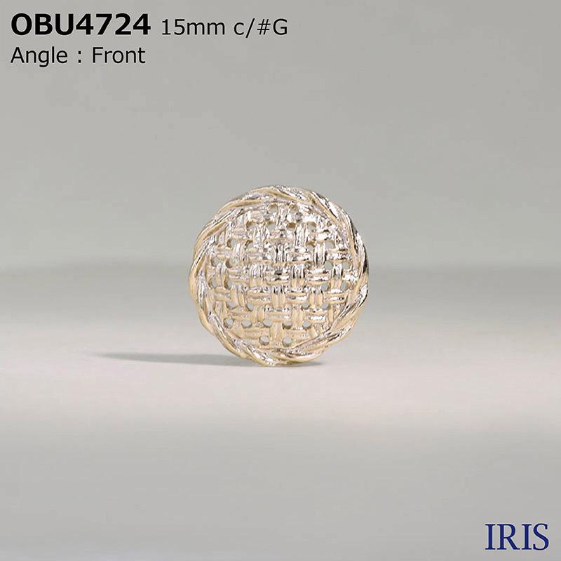 OBU4724 ハイメタル 半丸カン足ボタン  3サイズ2色展開