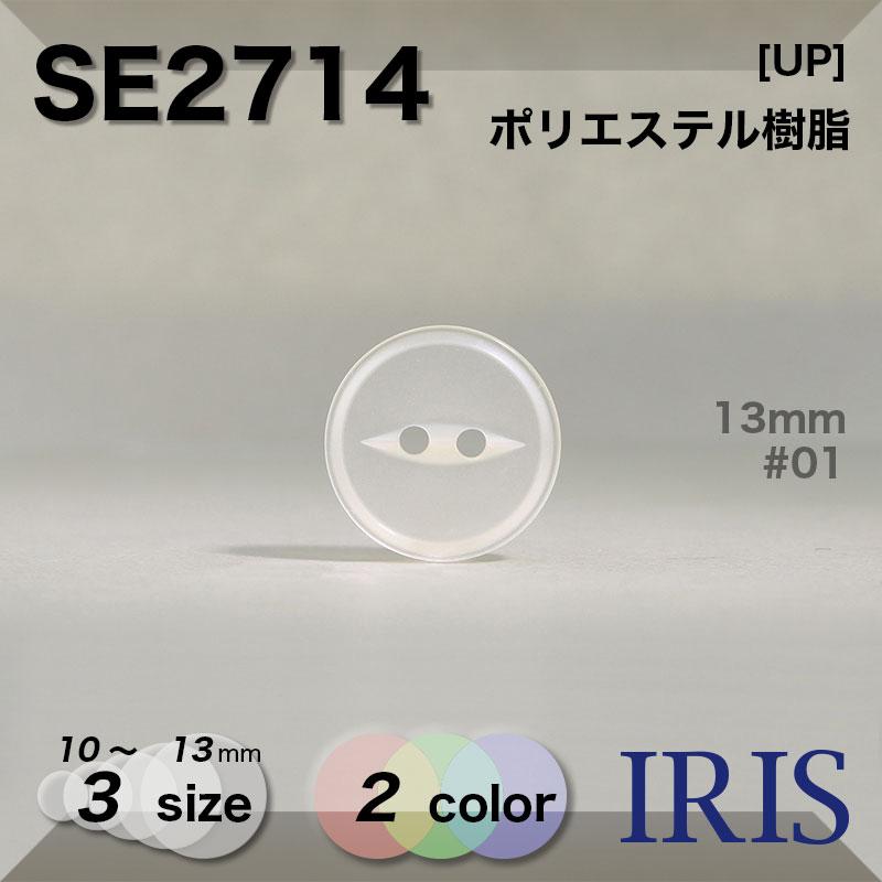 SE2714 ポリエステル樹脂 表穴2つ穴ボタン  3サイズ2色展開