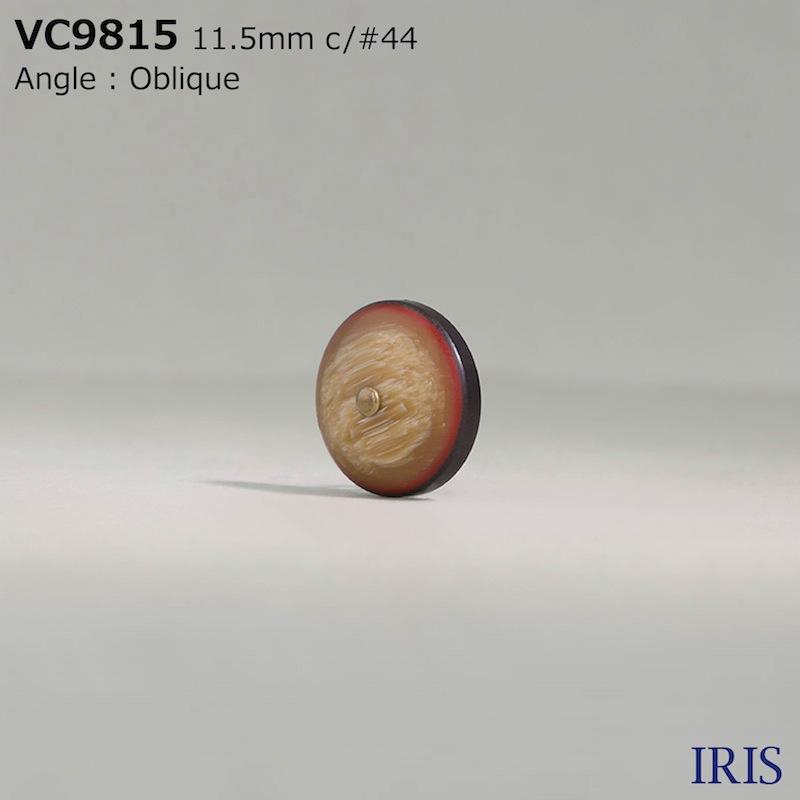 VC9815 真鍮/ポリエステル樹脂 丸カン足ボタン  2サイズ5色展開