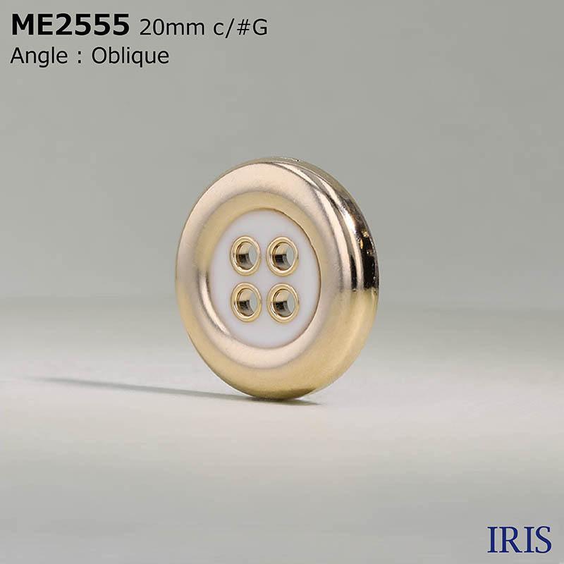 ME2555 エポキシ樹脂/ダイカスト 表穴4つ穴ボタン  5サイズ3色展開
