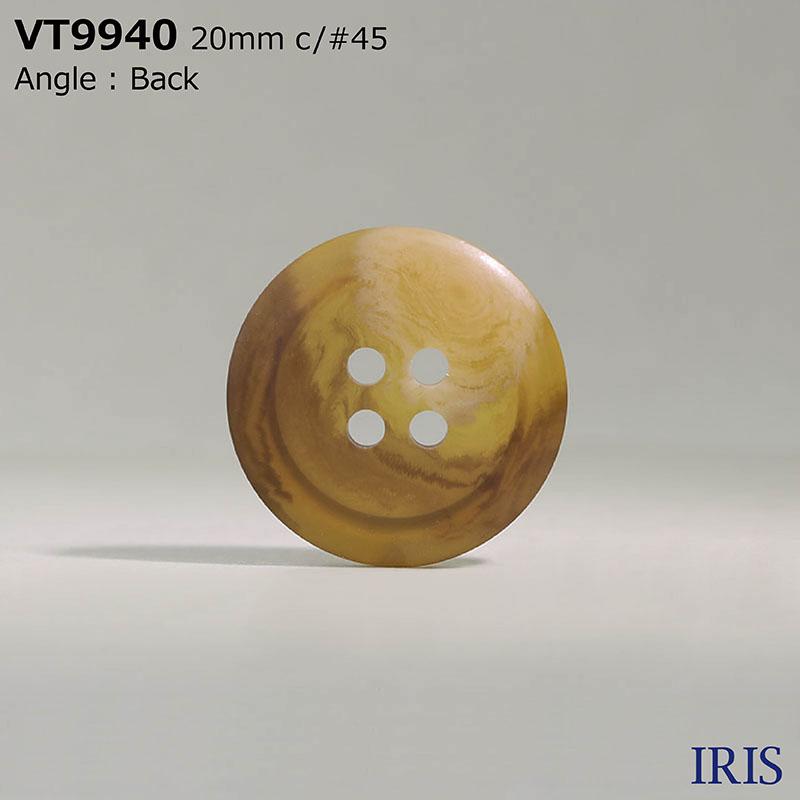 VT9940 ポリエステル樹脂 表穴4つ穴ボタン  6サイズ9色展開
