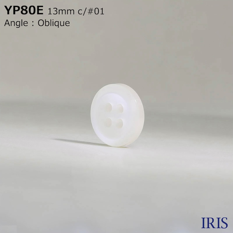 YP80E ポリエステル樹脂 表穴4つ穴ボタン  4サイズ3色展開