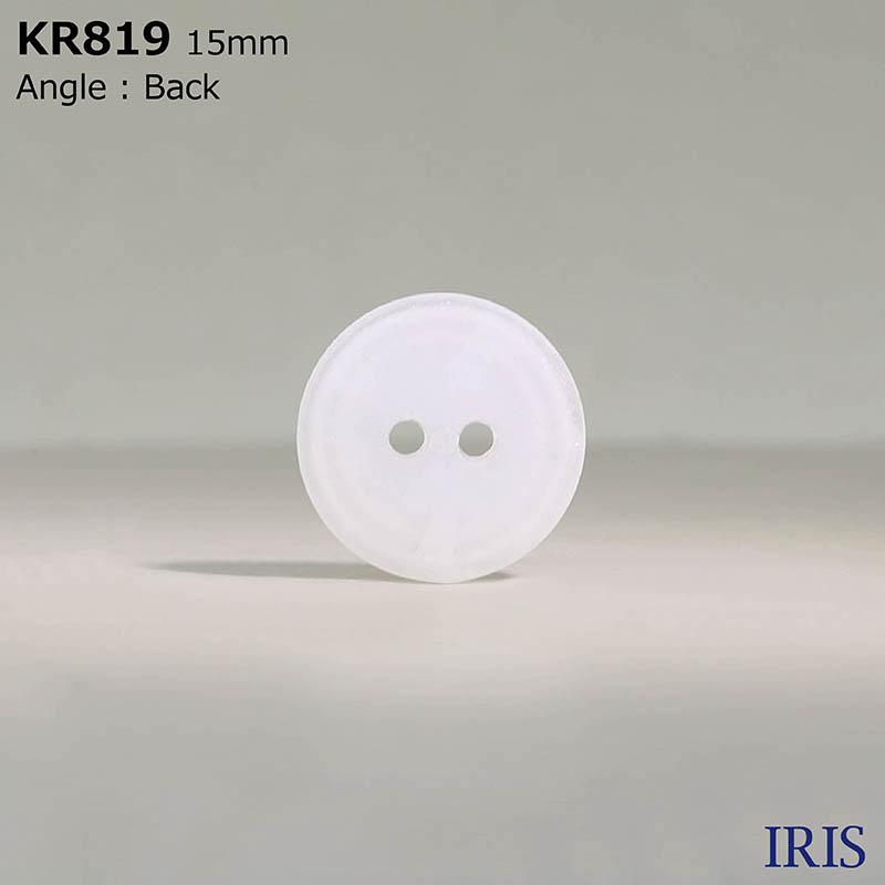 KR819 ナイロン樹脂 表穴2つ穴ボタン  3サイズ1色展開