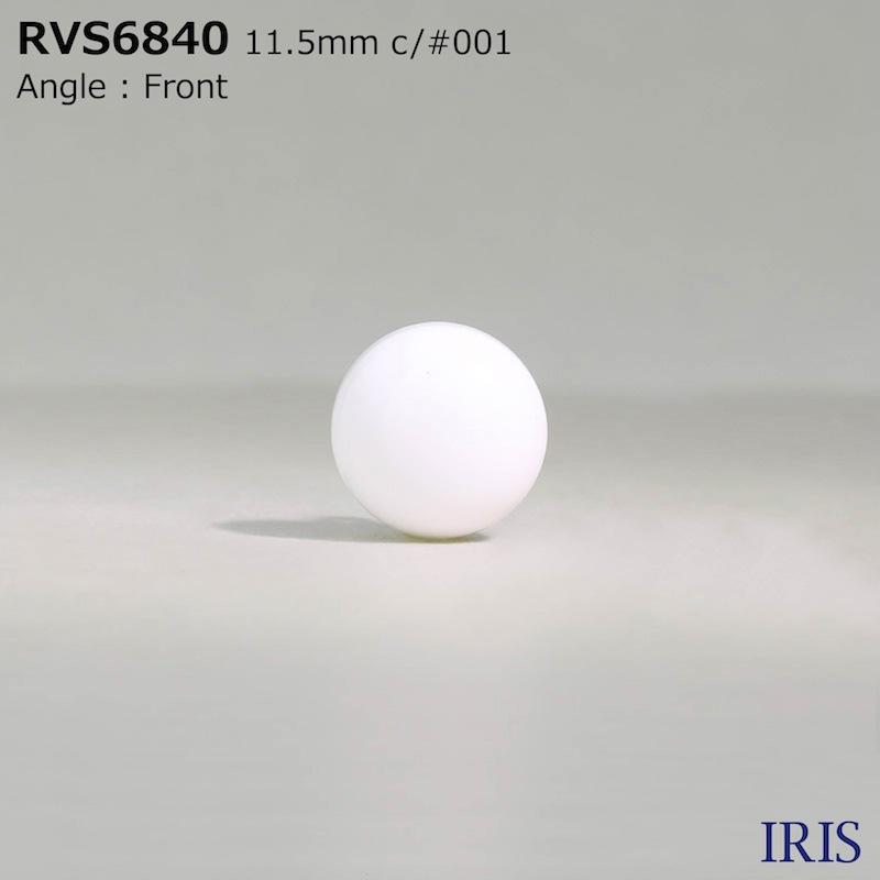 RVS6840 ポリエステル樹脂/真鍮 丸カン足ボタン  3サイズ1色展開