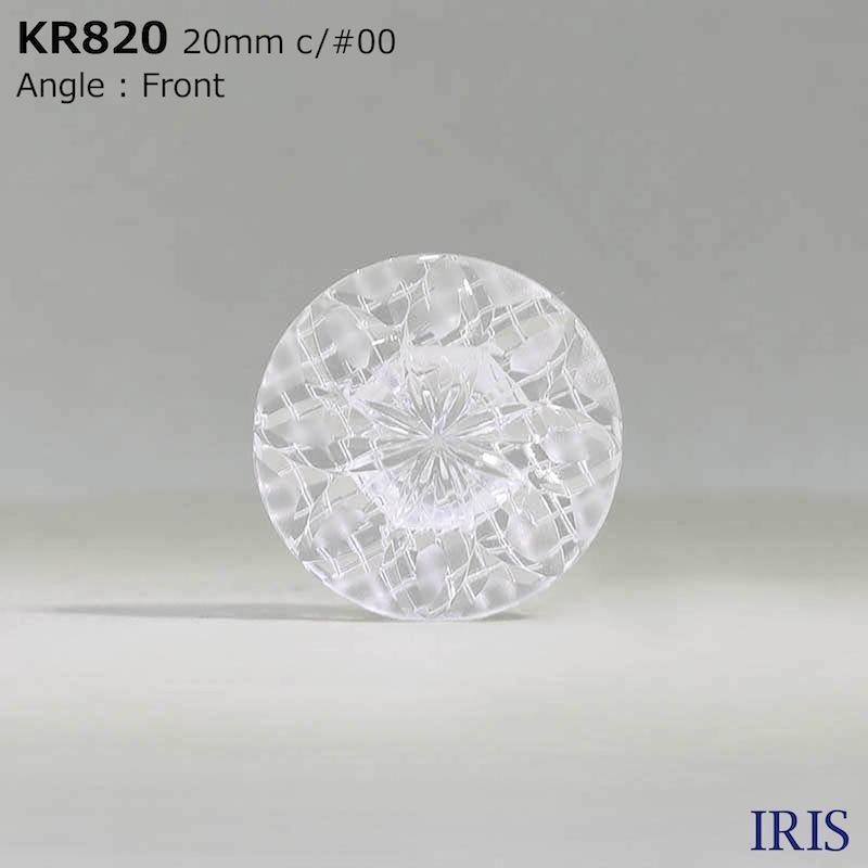 KR820 アクリル樹脂 トンネル足ボタン  4サイズ1色展開