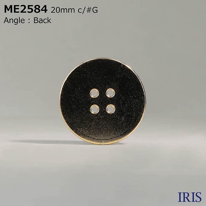 ME2584 エポキシ樹脂/ダイカスト 表穴4つ穴ボタン  4サイズ3色展開