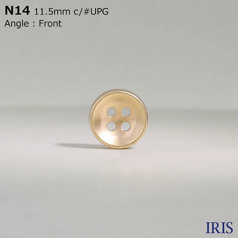 N14 ABS樹脂 表穴4つ穴ボタン  3サイズ7色展開