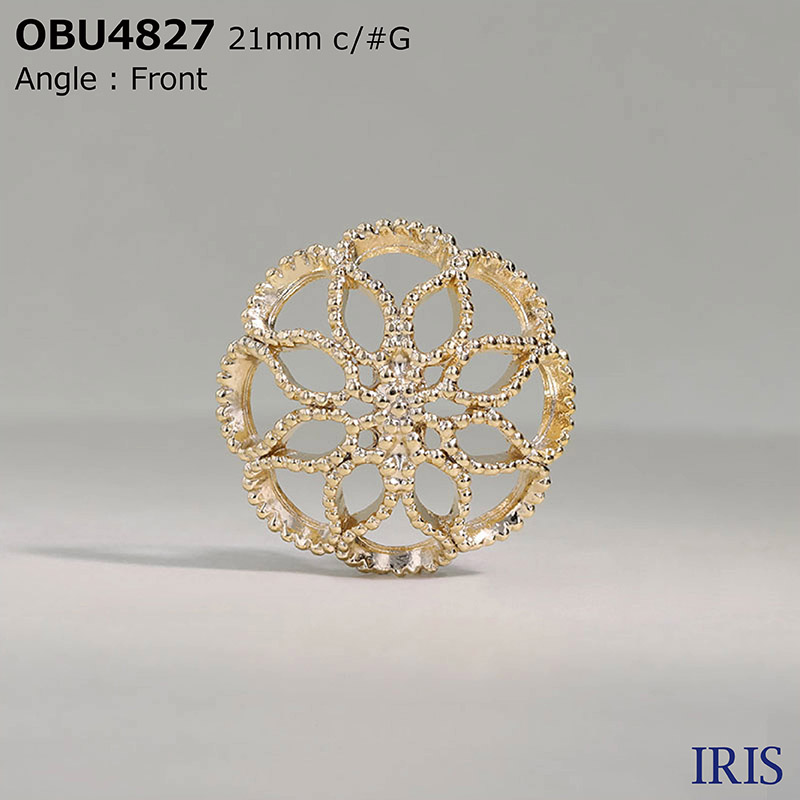 OBU4827 ハイメタル 半丸カン足ボタン  5サイズ3色展開
