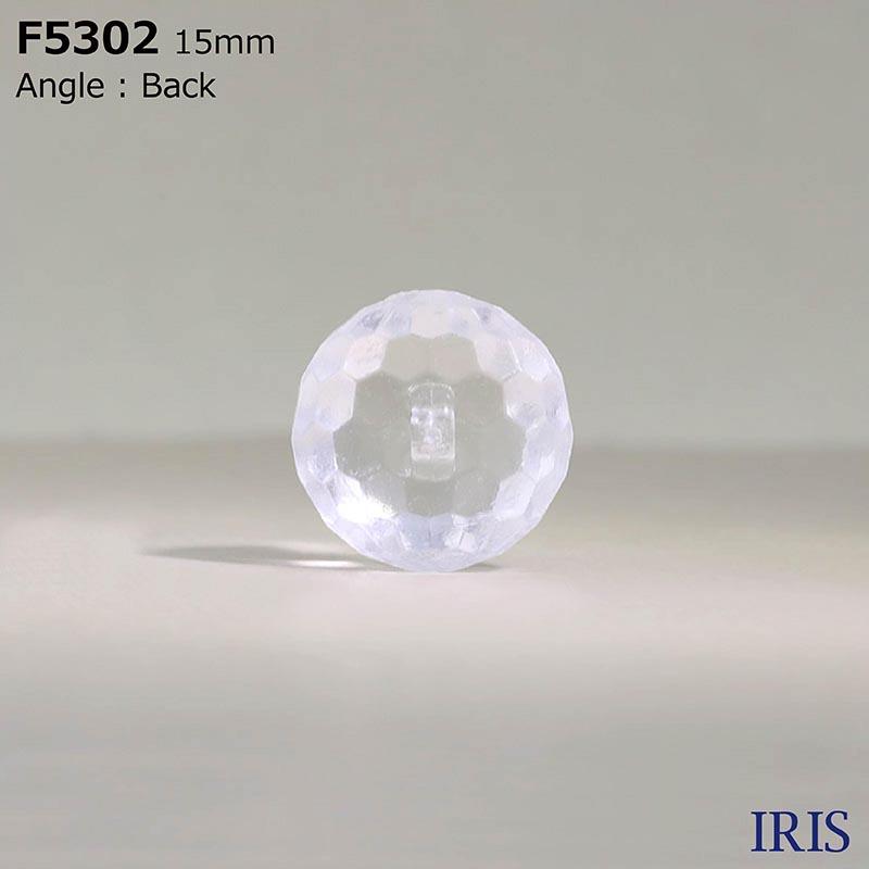 F5302 アクリル樹脂 角足ボタン  4サイズ1色展開