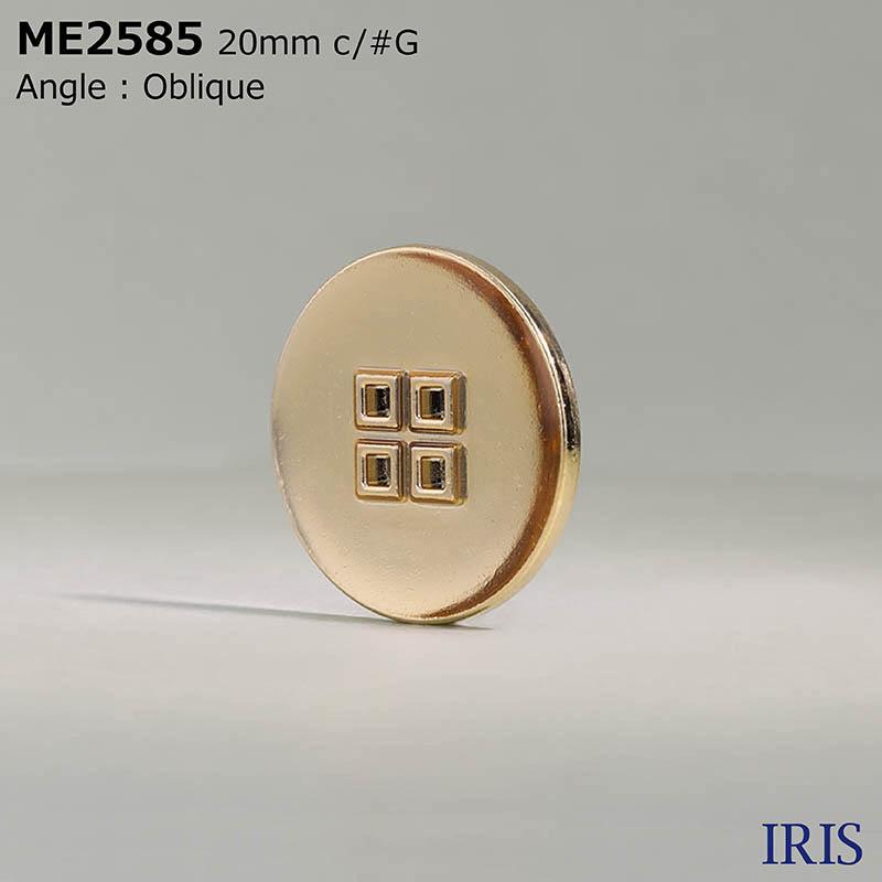 ME2585 エポキシ樹脂/ダイカスト 表穴4つ穴ボタン  4サイズ3色展開