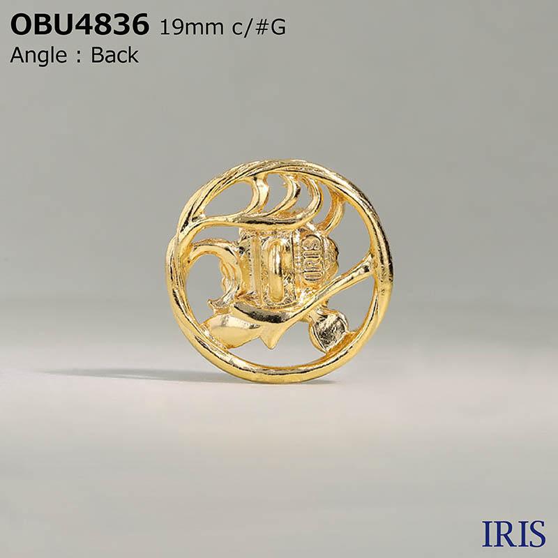 OBU4836 ハイメタル 半丸カン足ボタン  4サイズ2色展開