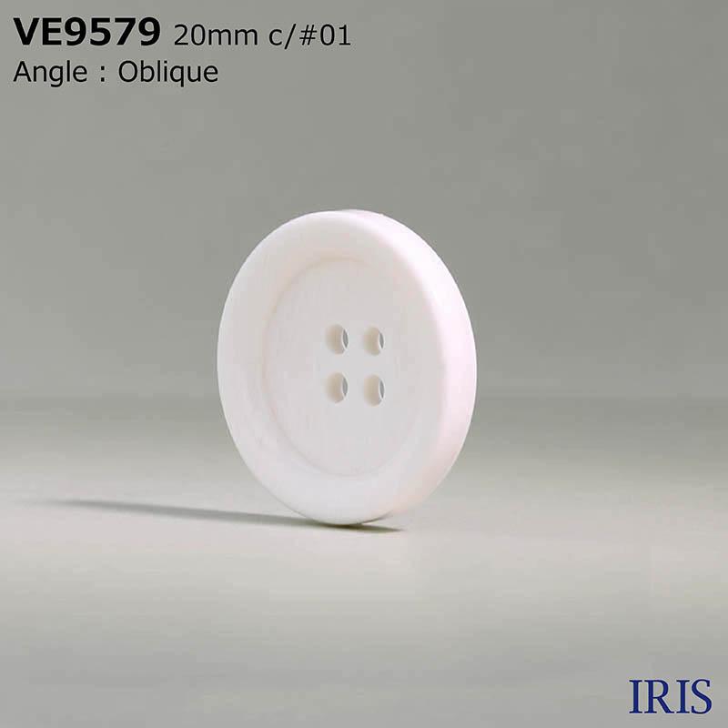 VE9579 ポリエステル樹脂 表穴4つ穴ボタン  4サイズ2色展開