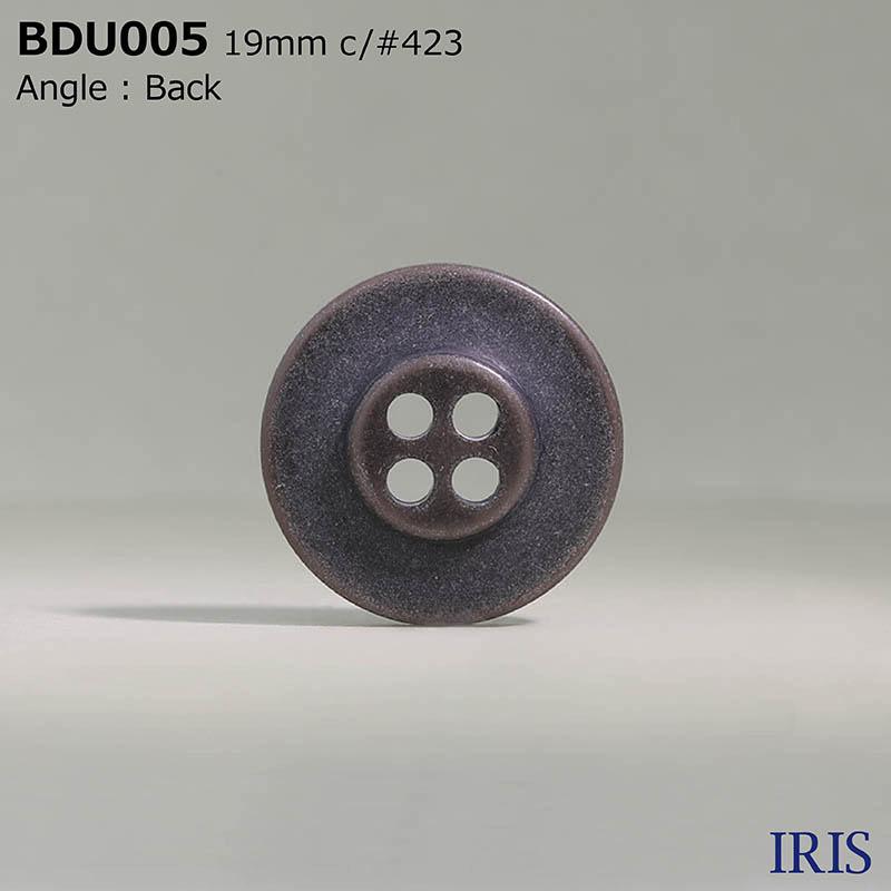 BDU005 ポリエステル樹脂 表穴4つ穴ボタン  3サイズ6色展開