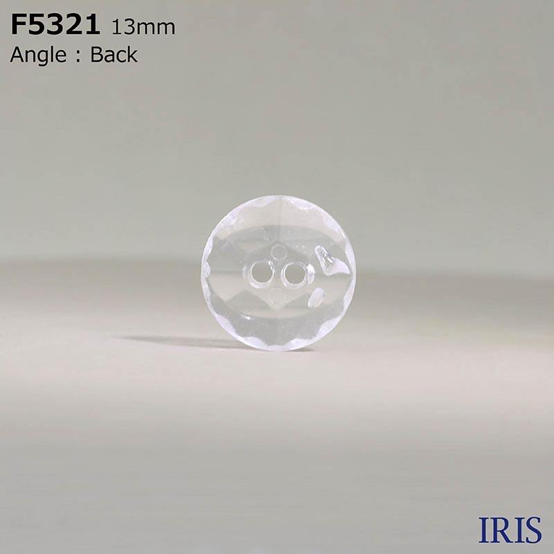 F5321 アクリル樹脂 表穴2つ穴ボタン  3サイズ1色展開