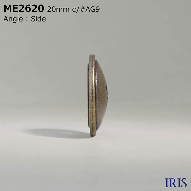 ME2620 エポキシ樹脂/ダイカスト 表穴4つ穴ボタン  4サイズ2色展開