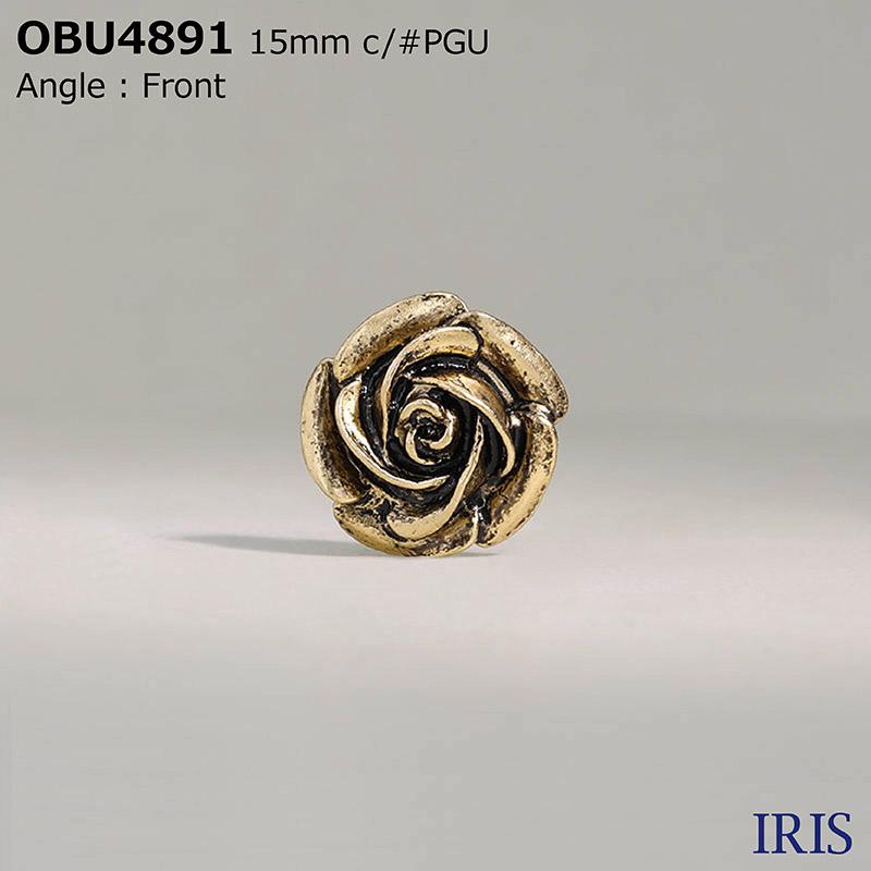 OBU4891 ハイメタル 半丸カン足ボタン  2サイズ4色展開