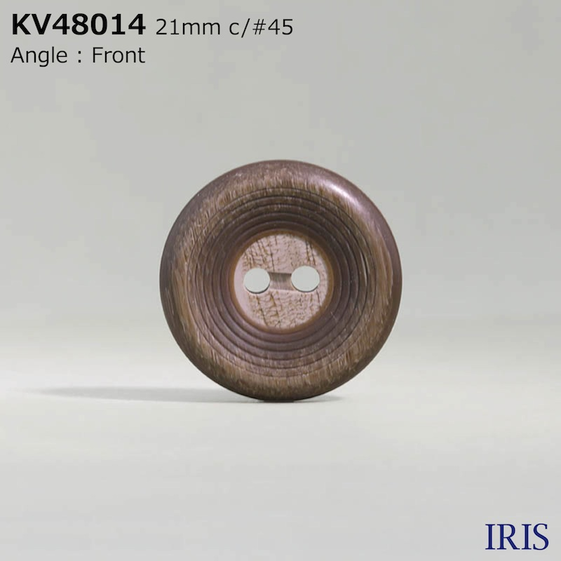 KV48014 ポリエステル樹脂 表穴2つ穴ボタン  6サイズ3色展開