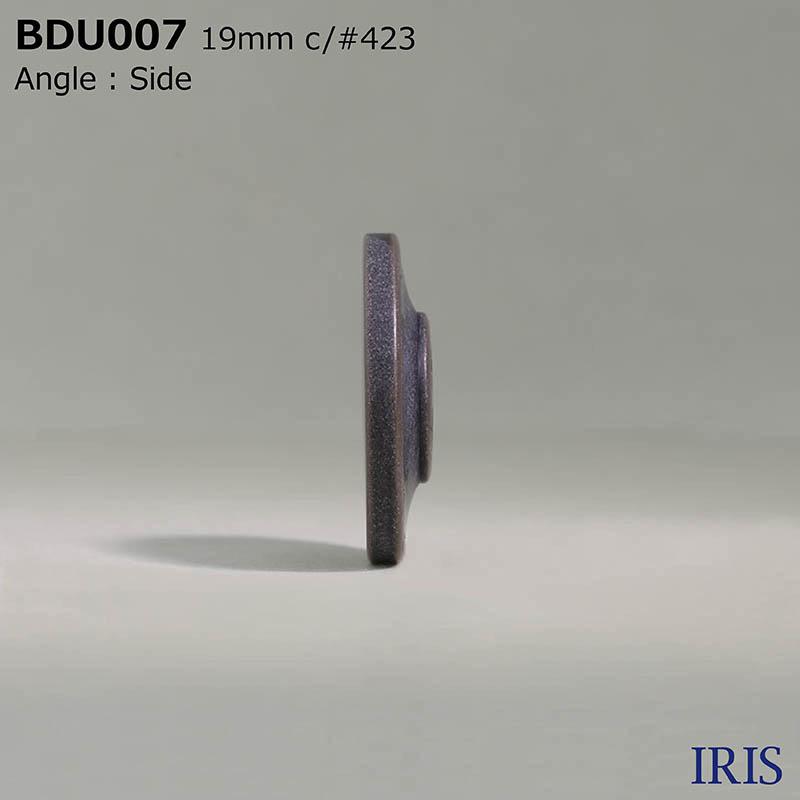 BDU007 ポリエステル樹脂 表穴4つ穴ボタン  3サイズ6色展開