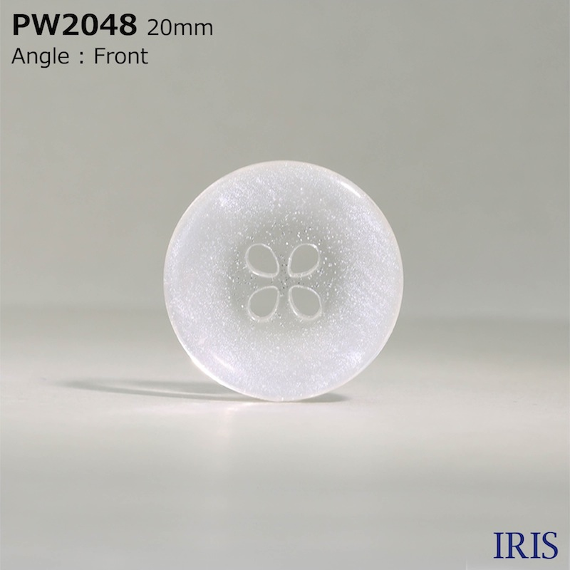 PW2048 ポリエステル樹脂 表穴4つ穴ボタン  5サイズ1色展開
