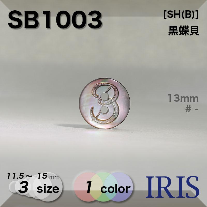 SB1003 黒蝶貝 表穴2つ穴ボタン  3サイズ1色展開