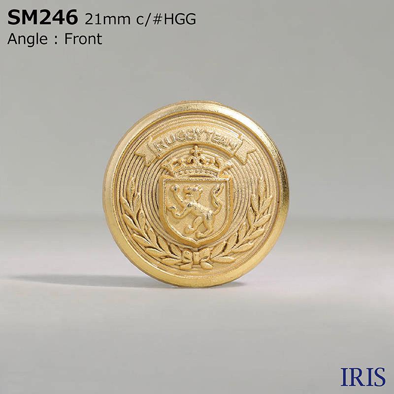 SM246 ダイカスト 丸カン足ボタン  3サイズ2色展開